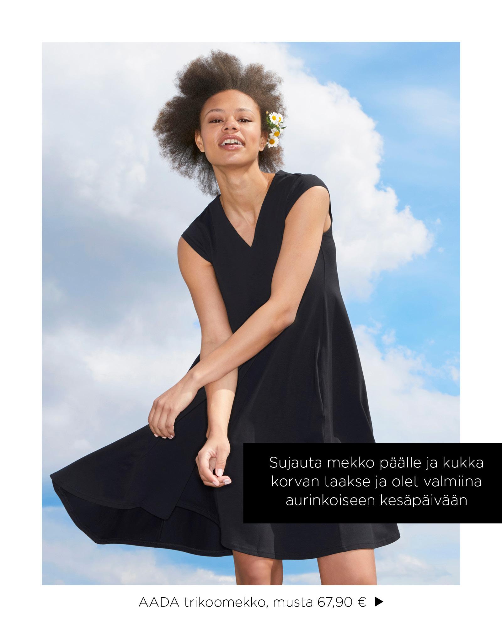 VIOLA mekko, musta vanilja   NOSH vaatekutsut