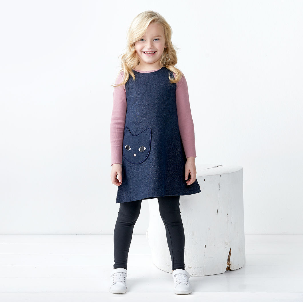 KISU collegetunika, denim-look navy