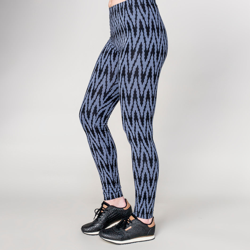 VIRTA leggings, sininen - musta